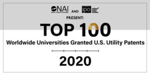 NAI Announces Top 100 Worldwide Universities Granted U.S. Utility Patents in 2020